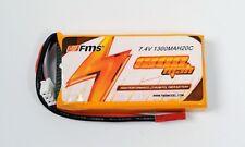 7,4 v 1300mah Pack De Batería Para FMS Cessna Altura, Easy Trainer, Libélula, Moa &