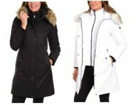 NEW 1 Madison Expedition Women's Faux Fur Hooded Parka Jacket - VARIETY