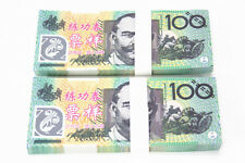 100pcs 100 AUD Play Money Training Banknotes Practice Fake Bills XY1538-11
