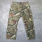 Mossy Oak Mens Jeans 34x30 Straight Leg Camo Pattern Denim Pants Cotton EUC