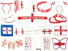 100 Mixed England World Cup Football St George Cross Items White & Red