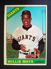 1966 Topps Willie Mays #1, San Francisco Giants, SF, VG/EX