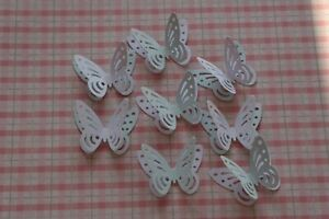 40 BABY SHOWER 3D PAPER BUTTERFLIES LIGHT BLUE & WHITE TABLE DECORATION