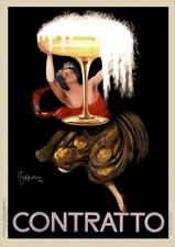 Contratto Champagne   Vintage Poster   A1, A2, A3
