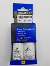 ORIGINAL JEU STYLO RETOUCHE PEINTURE + VERNIS RENAULT QNC 7711576009 BLANC NACAR