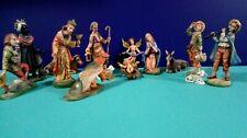 Vintage Nativity Set Figures ~ ITALY ~14 Pieces ~ Fontanini?