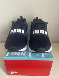 """Men's Puma Wired Trainers Size Uk 9 Blue Brand New. """"No Lid On Box"""""""