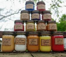 Highly Scented Country Jar Candle PUMPKIN PIE Scent 12 oz.