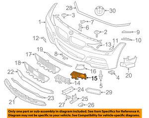 BMW OEM 13-15 328i xDrive Front Bumper Grille-Lamp Bezel Left 51118054155