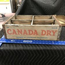 Vintage Rare CANADA DRY Wooden Crate Soda wood box FC-5-65 CD2