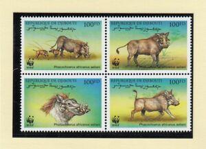 (90619) Djibouti MNH WWF Eritrean Warthog 2000