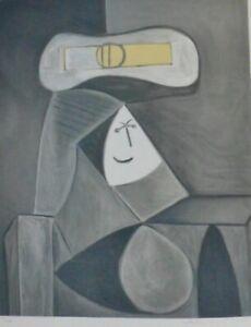 """PABLO Picasso """"FEMME AU CHAPEAU GRIS"""" hand signed Marina Picasso 125/500"""