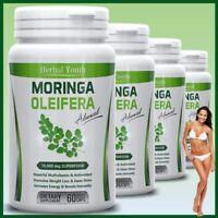 2X Bottles Super Food 100% Pure Organic Moringa Oleifera Capsules No Fillers UK