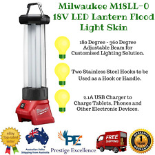Milwaukee M18LL-0 18V LED Lantern Flood Light Skin with 2.1A USB Charger Torches