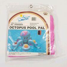 Vintage Intex The Wet Set Octopus Pool Pal Inflatable Drink Holder 1988