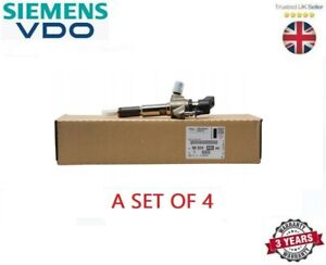 A SET OF FOUR GENUINE VDO INJECTOR FITS CITROEN DS3 DS4 DS5 1.6 TDCI 2009-2015