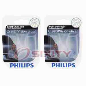 2 pc Philips License Plate Light Bulbs for Jaguar F-Type S-Type Super V8 nn