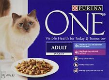 Purina ONE Adult Wet Cat Food Ocean Fish and Lamb Mini Fillets in Gravy, 8 x 85