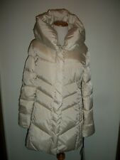 Hawke & Co Womens Collared Quilted Down Coat Champagne Medium NWT