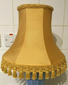 Vintage Lampshade  - Brocade & Tassels - Yellow/Gold Colour