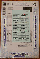 Microscale Decal N #60-1515 Norfolk Southern (NS) Cov'd Hoppers ACF, Trinity, PS