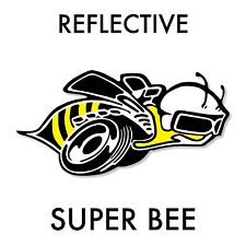 Reflective Dodge Super Bee vinyl decal full color over laminated for car & truck
