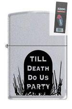 Zippo 3191 till death do us party RARE & DISCONTINUED Lighter + FLINT PACK