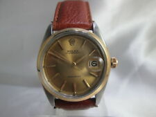 ROLEX OYSTERDATE PRECISION 6694 18KGP/STAINLESS STEEL HANDWIND MENS WATCH