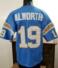 NFL SD CHARGERS FOOTBALL LANCE ALWORTH # 19 THROWBACK STITCHED JERSEY SZ 48
