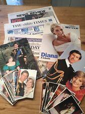 Princess Diana memorabilia Newspaper from 1997 & royal wedding books postcards