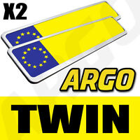 2 X CHROME CAR NUMBER PLATE HOLDERS SURROUNDS FRAMES