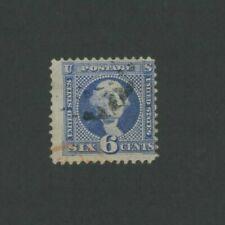 1869 United States Postage Stamp #115 Used Average Partial Postal Cancel