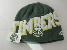 Portland Timbers MLS Adidas Beanie Hat Green Soccer Stretch Unisex 2016 logo