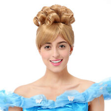 Cinderella Wig Women Princess Cosplay Costume Halloween Party Short Curly Hair