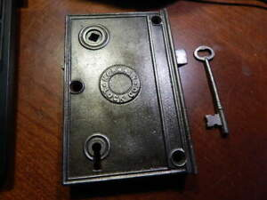 Large Norwalk 1800's Door Rim Lock Security Latch (RL 4) Refurbished