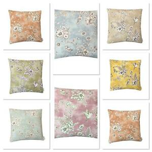 SMD iliv FINCH TOILE Floral/Birds IN VARIOUS COLOURS & SIZES CUSHION COVERS