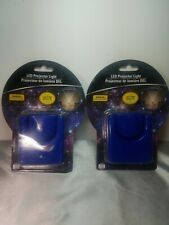 2 Blue Mini Battery Operated LED Star Nightlight Galaxy Ceiling Wall Projectors