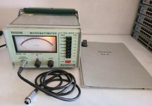 Boonton Electronics Microwattmeter Model 42B Microwatt RF Meter w/ Manual