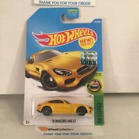 '15 Mercedes-AMG GT #256 * Yellow * 2017 Hot Wheels FACTORY SET * NB23