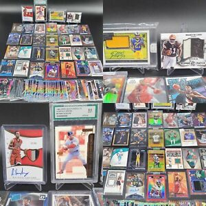 HUGE LEBRON RPA PATCH AUTO GRADED PRIZM JERSEY ROOKIE SPORTS CARD COLLECTION LOT