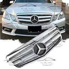 FRONT SILVER CHROME GRILL FOR MERCEDES W212 09-13 AMG LOOK 212041 E-CLASS