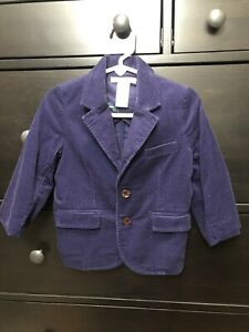 Janie And Jack Purple Corduroy Blazer