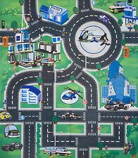 Tappeto gioco bambini citta' mouquette pavimento metropoli con 6 auto 70x80