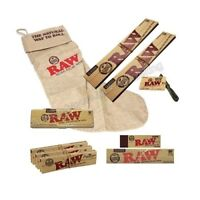 "Raw Stocking King Size Rolling Papers Set With Tin And Tips Raw 12"" Gift"