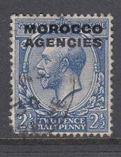 Morocco Agencies 1925 George V 2½d stamp - 15½ mm overprint SG58a - good used