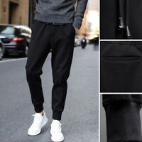 Men Sports Harem Sweatpants Pencil Pants Black Bottom Track Trousers Casual US