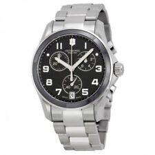 Relojes de pulsera Chrono de plata de acero inoxidable