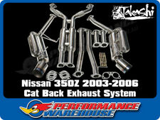NISSAN 350Z 2003-06 STAINLESS STEEL HKS STYLE CAT BACK EXHAUST SYSTEM **WAS $995