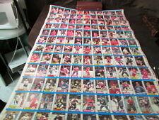 1989-1990 O-PEE-CHEE 132 NHL Uncut Hockey Card Sheet