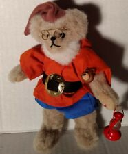 Artist Pauline Weir Teddy Bear Plush Doc Jointed Painted Heart Lantern Tag Mini